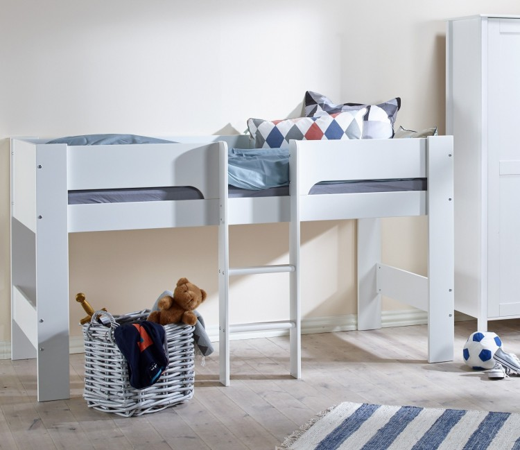 Flexa Kids Bed.Flexa Modern Childrens Mid Sleeper Bed By Thuka