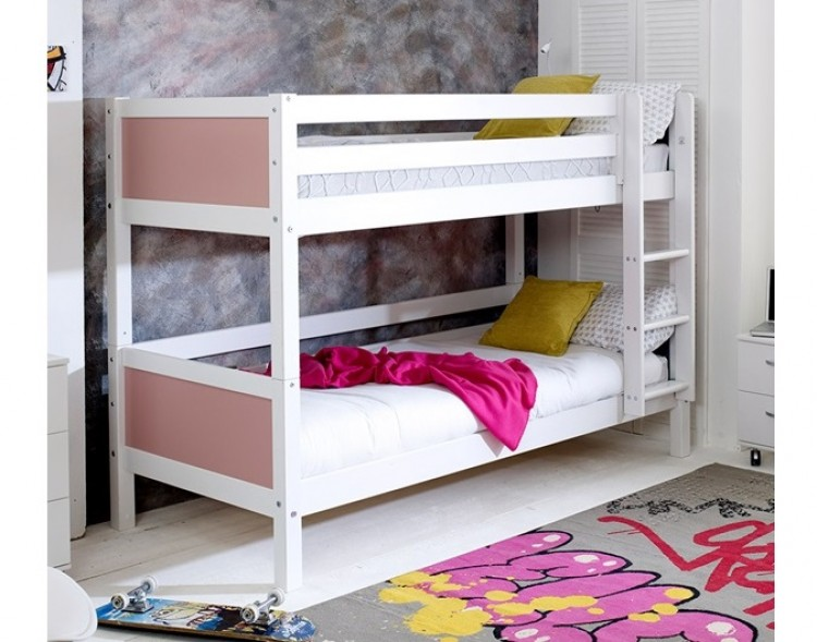 Flexa Nordic Bunk Bed 1 With Flat Rose End Panels By Thuka