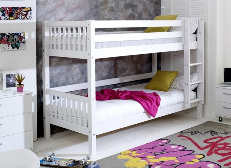 Flexa Nordic Bunk Bed 1 With Slatted End Panels By Thuka