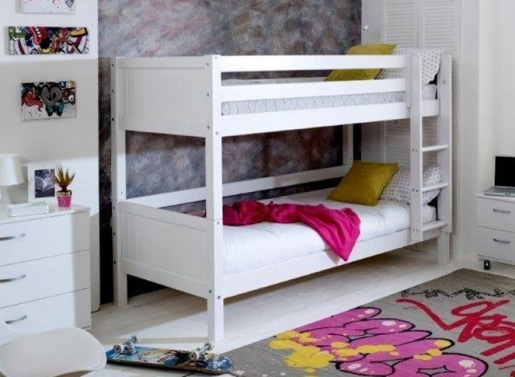 Flexa Nordic Bunk Bed 1 With Grooved White End Panels By Thuka