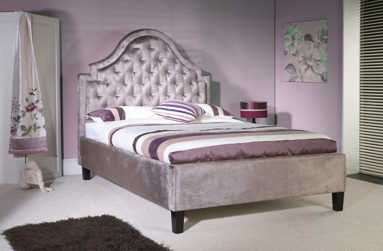 Limelight Charon 5ft Kingsize Mauve Velvet Fabric Bed