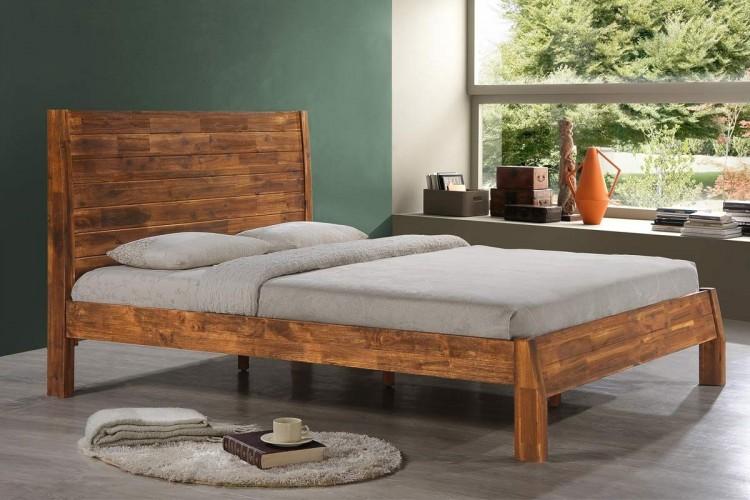 Sleep Design Astbury 4ft6 Double Caramel Wooden Bed Frame By