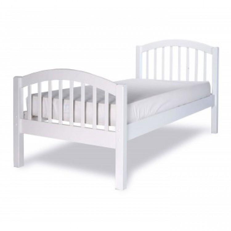 Limelight despina 3ft single white wooden bed frame by for Kids white bed frame