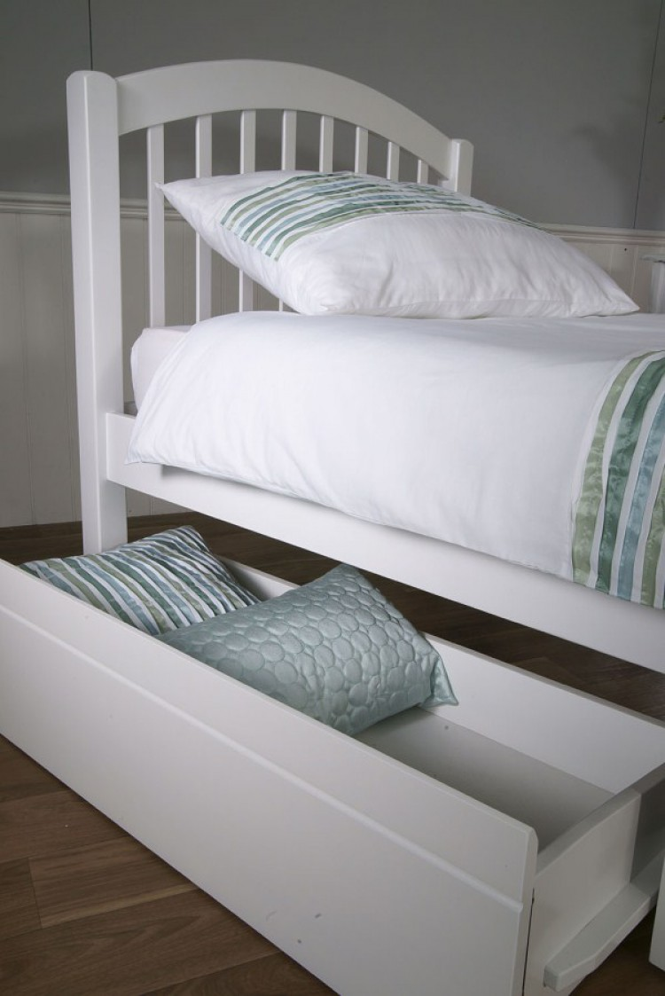 limelight despina 3ft single white wooden bed frame with. Black Bedroom Furniture Sets. Home Design Ideas