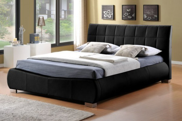 Limelight Dorado 4ft6 Double Black Faux Leather Bed Frame