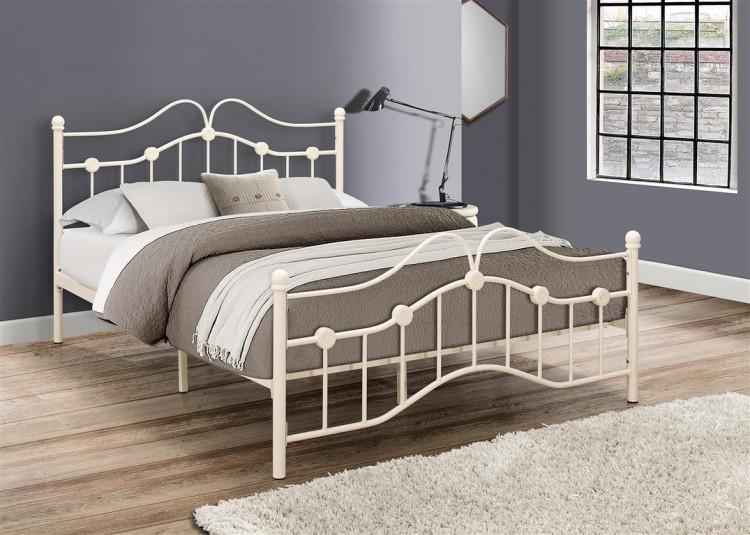 birlea canterbury 3ft single cream metal bed frame by birlea. Black Bedroom Furniture Sets. Home Design Ideas