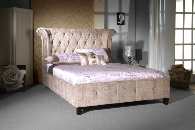 Limelight Epsilon 5ft Kingsize Mink Velvet Bed Frame