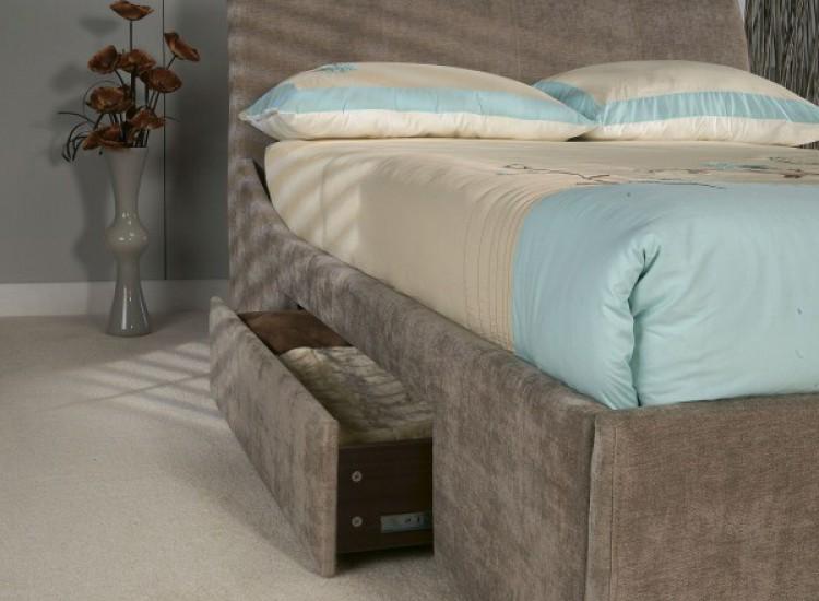 Limelight Oberon 6ft Super Kingsize Mink Fabric Bed Frame With