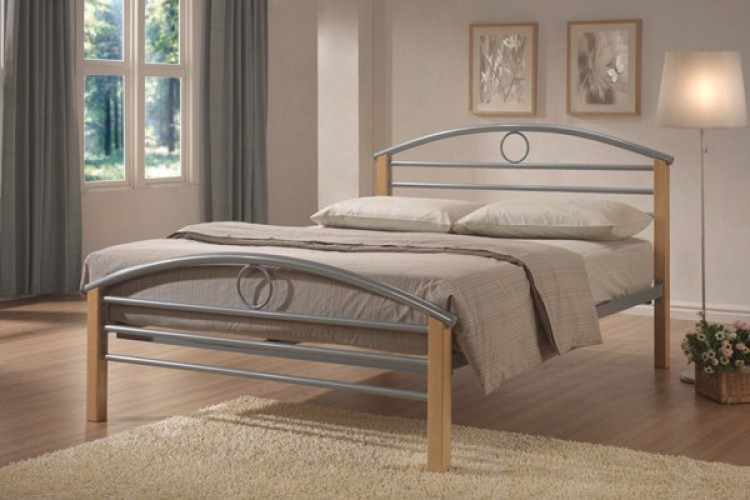 Limelight Pegasus 3ft Single Silver Metal Bed Frame By