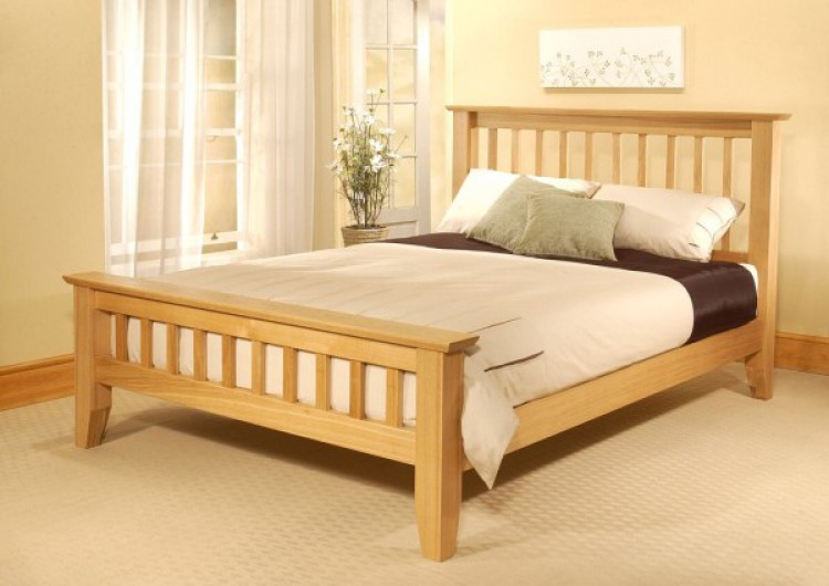 Double Size Bed Frame : Limelight Phoebe 4ft6 Double Oak Bed Frame by Limelight Beds