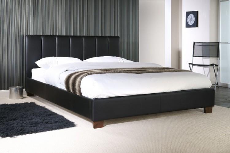Limelight Pulsar Black 5ft Kingsize Faux Leather Bed Frame by ...