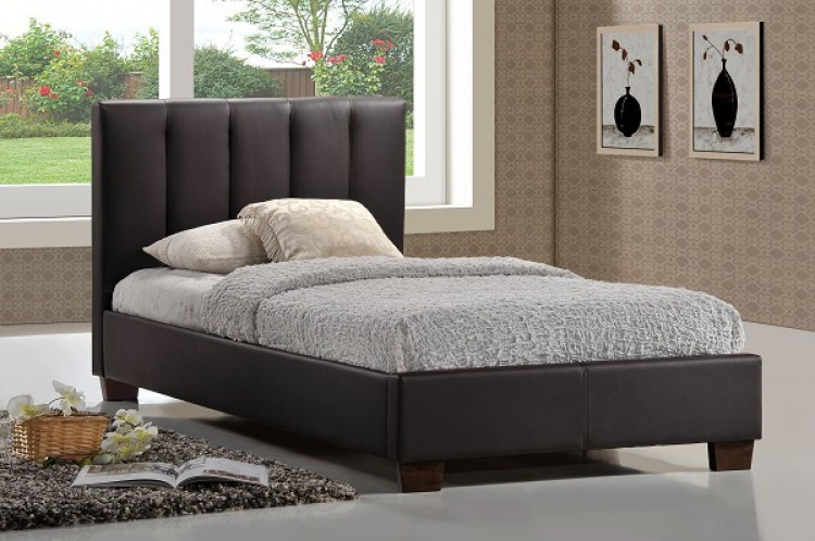 Limelight Pulsar Brown 3ft Single Faux Leather Bed Frame