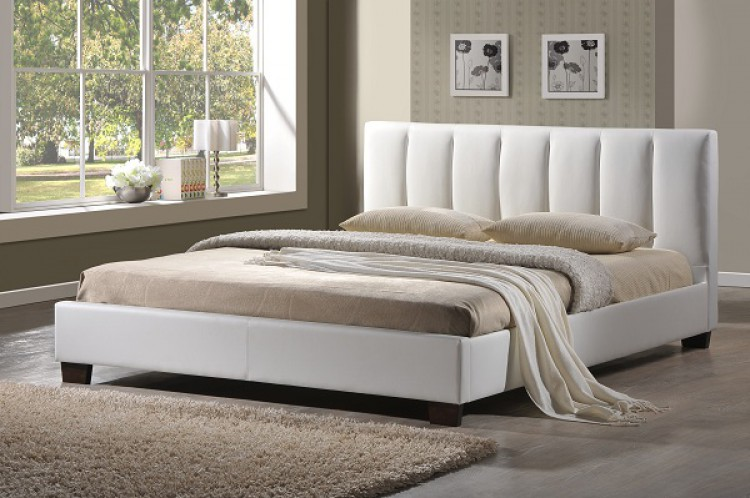 Limelight Pulsar White 4ft Small Double Faux Leather Bed