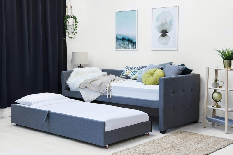 Sleep Design Versailles 3ft Single Black Metal Day Beds