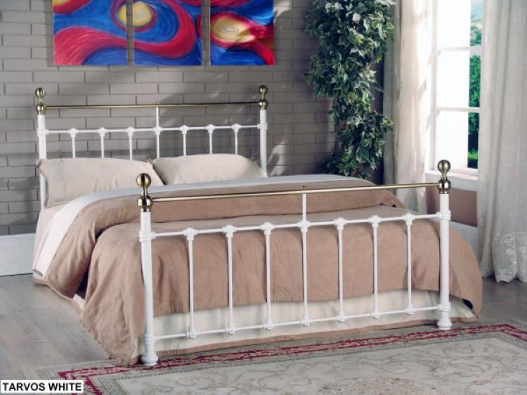 Limelight Tarvos 5ft Kingsize White Metal Bed Frame By
