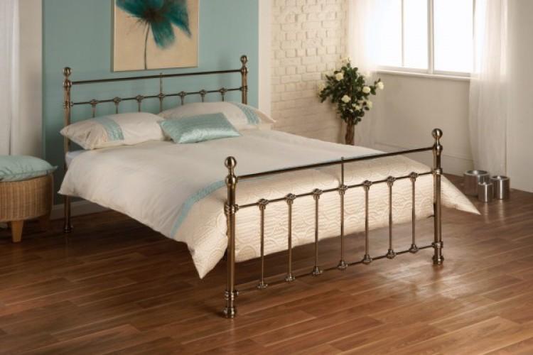 Limelight Tarvos 5ft Kingsize Brass Metal Bed Frame By Limelight Beds