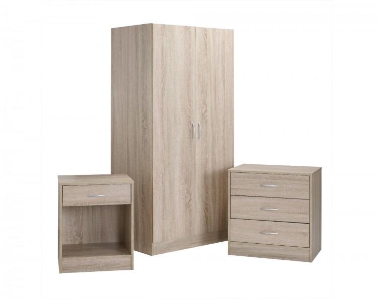 Lpd Delta Bedroom Furniture Set In Oak