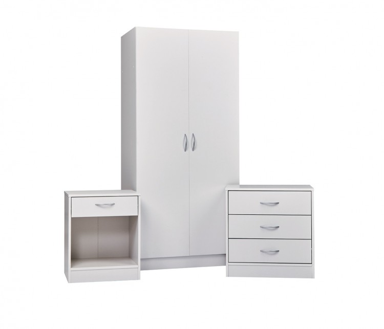 LPD Delta Bedroom Furniture Set In White by LPD Furniture
