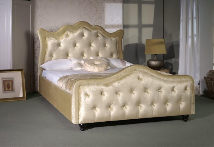 Limelight Vega 4ft6 Double Gold Velvet Fabric Bed Frame By