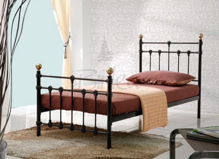 birlea atlas bed frame 3ft single black metal bed frame