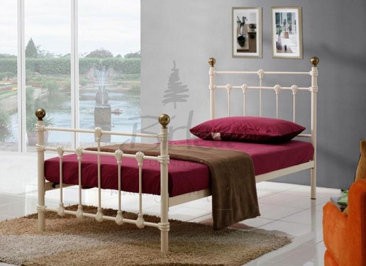 birlea atlas 3ft single cream metal bed frame by birlea. Black Bedroom Furniture Sets. Home Design Ideas