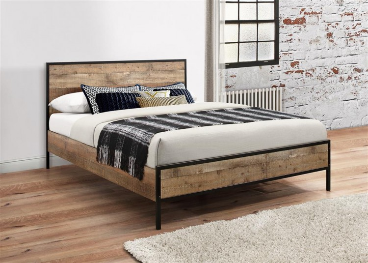 buy popular 55cb8 1d88e Birlea Urban 4ft Small Double Wooden Rustic Finish Bed Frame ...
