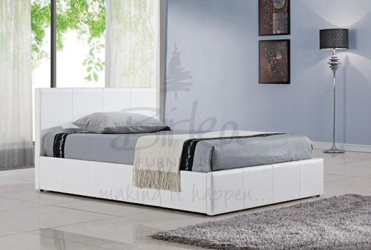 Birlea Berlin Double White Faux Leather Bed Frame