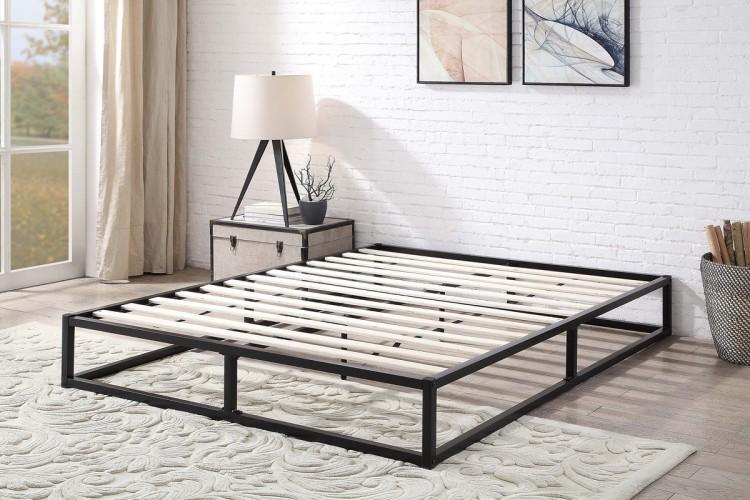Sleep Design Amersham 4ft6 Double Black Metal Platform Bed