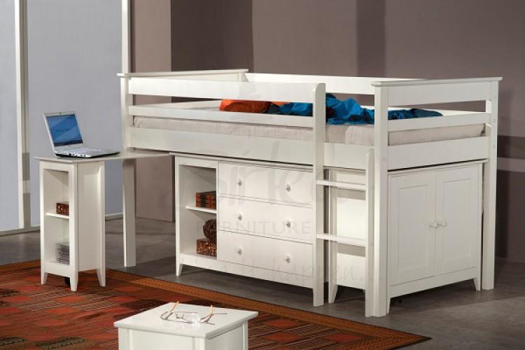 birlea cotswold ivory mid sleeper by birlea. Black Bedroom Furniture Sets. Home Design Ideas