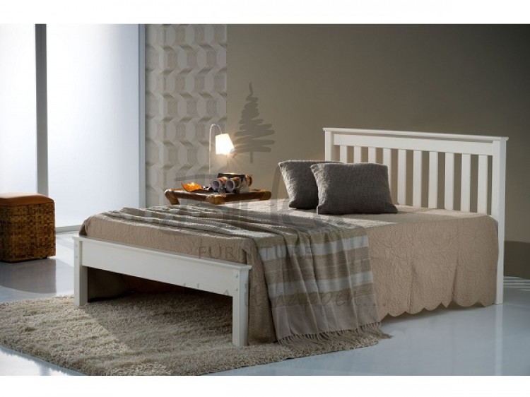 Birlea Denver 4ft Small Double Ivory Wooden Bed Frame by Birlea