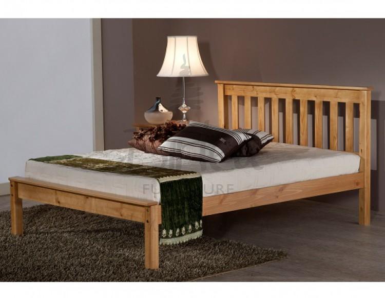 birlea denver 4ft small double pine wooden bed frame by birlea. Black Bedroom Furniture Sets. Home Design Ideas