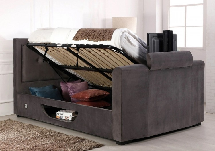 Brilliant Flair Furnishings Juliet 5Ft Kingsize Ottoman Tv Bed In Andrewgaddart Wooden Chair Designs For Living Room Andrewgaddartcom
