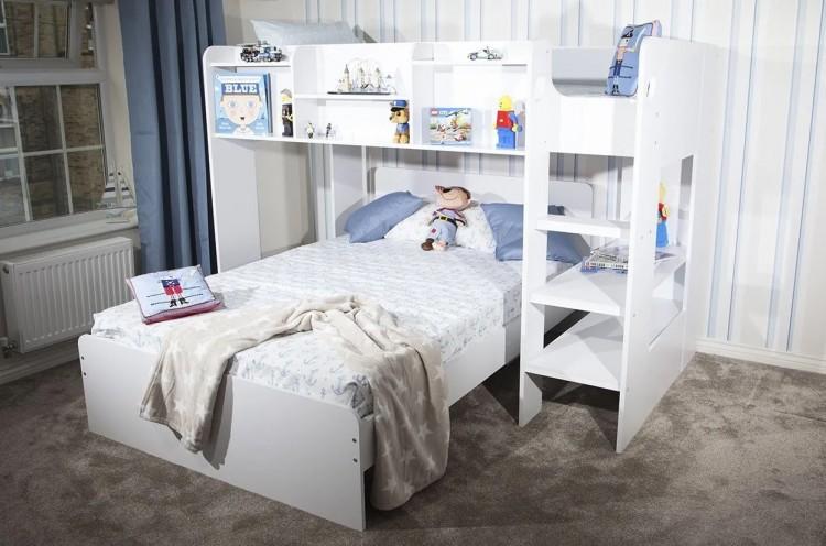 Flair Furnishings Wizard L Shape Triple Sleeper Bunk Bed By Flair Furnishings