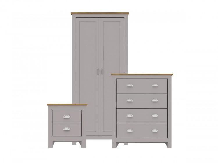 Lpd Lancaster 3 Piece Bedroom Furniture, Grey Bedroom Furniture Set