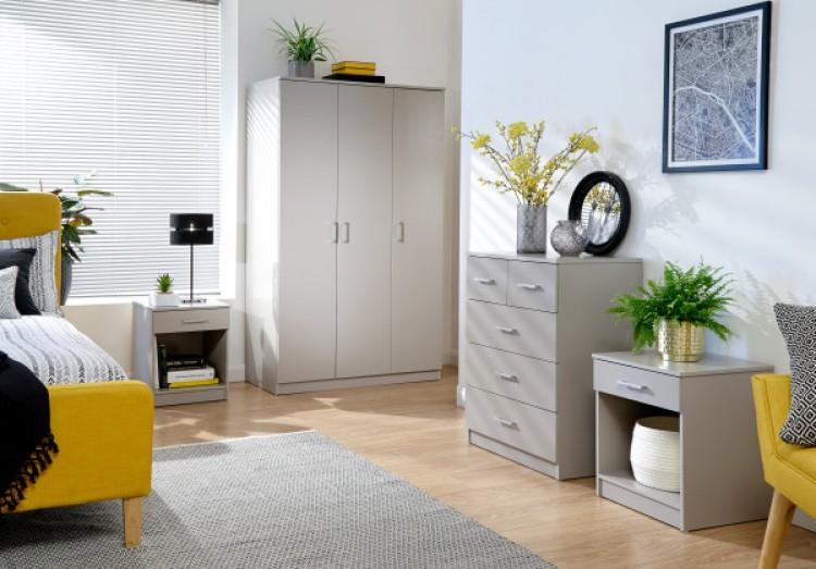 Gfw Panama 4 Piece Bedroom Set In Grey By Gfw