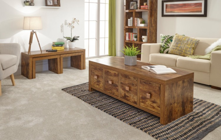 Tables Jakarta Mango Wood Living Room Coffee Table Furniture UK Free Delivery Home, Furniture & DIY Breadcrumbs.ie