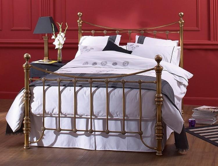 obc arran 6ft super kingsize high footend brass metal bed. Black Bedroom Furniture Sets. Home Design Ideas