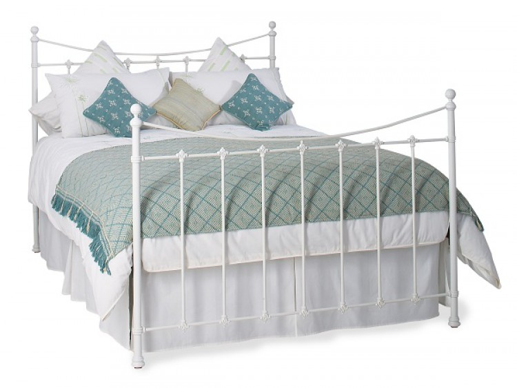 OBC Chatsworth 4ft 6 Double White Headboard By Original