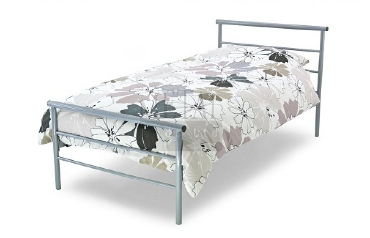 more photos f165f 4c575 Metal Beds Contract 2ft 6 (75cm) Small Single Silver Metal ...