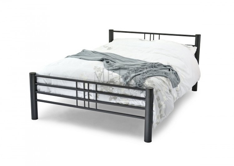 promo code 827e3 6b921 Metal Beds Cuba 4ft (120cm) Small Double Black Bed Frame by ...