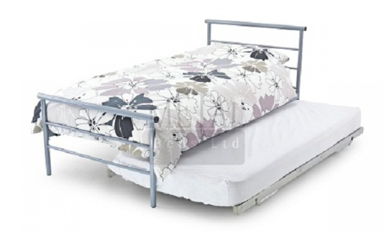 Metal Beds Guest Underbed 3ft 90cm Single Silver Bed