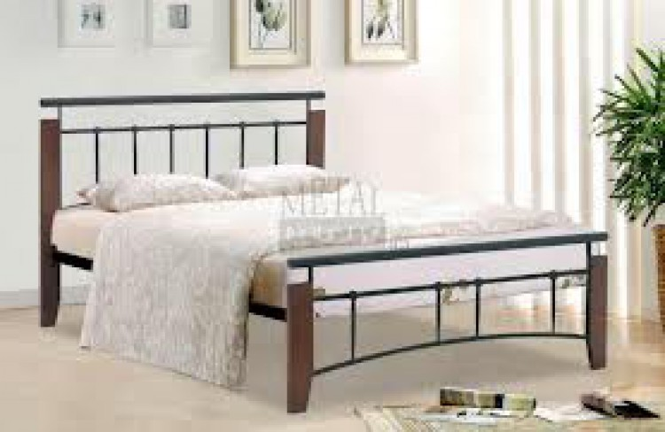 Metal Beds Kentucky 4ft6 (135m) Double Black And Antique