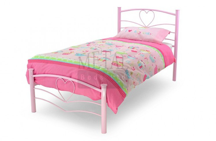 Twin bed frame for girls - Pin Pink Heart Bed Frames On Pinterest