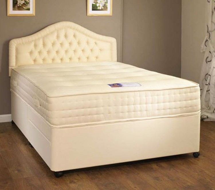 Kozeesleep rembrandt 6ft super kingsize 1000 pocket spring for Single divan bed without mattress