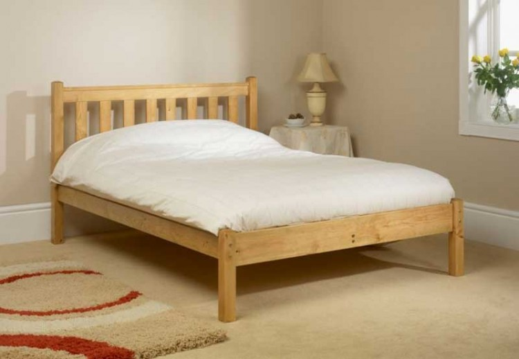 Low Wooden King Size Bed Frame
