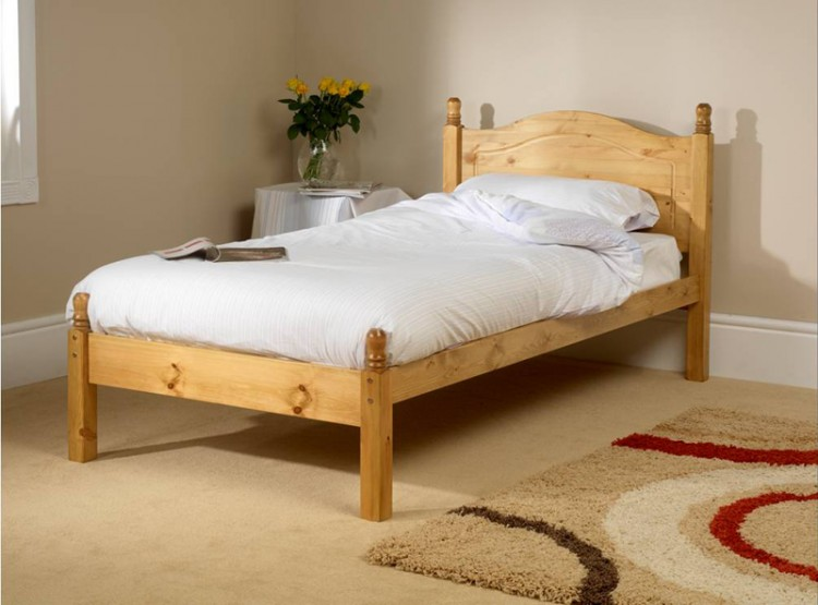 Friendship mill orlando low foot end 4ft6 double pine for Foot of bed furniture