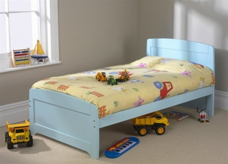 friendship mill rainbow blue 3ft by 5ft9 short single wooden bed