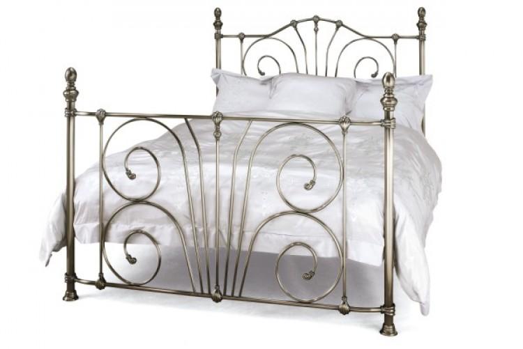 serene jessica 6ft super kingsize nickel metal bed frame by serene furnishings - Metal Frames For Beds