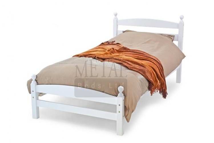 metal beds moderna 3ft 90cm single white wooden bed. Black Bedroom Furniture Sets. Home Design Ideas