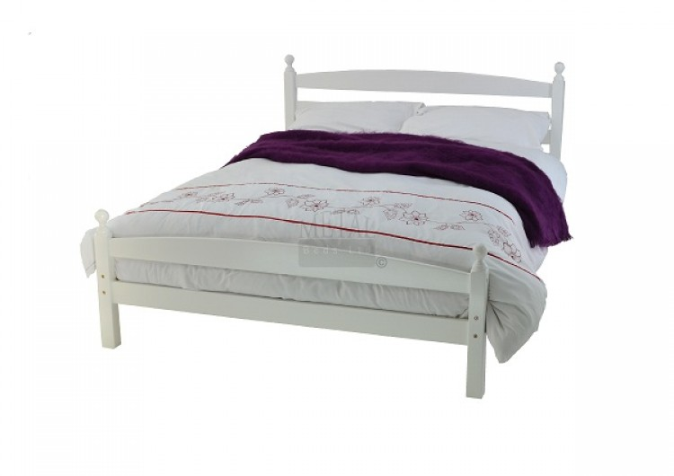 Metal Beds Moderna 4ft 120cm Small Double White Wooden